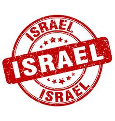 Israel red grunge round vintage rubber stamp vector