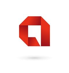 Letter A speech bubble logo icon design template vector image