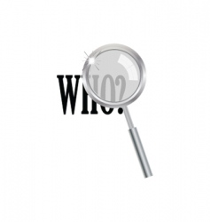 Magnifier with who question vector