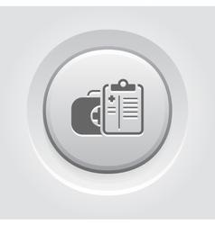 Medical services icon grey button design vector