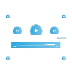 Music player set vector