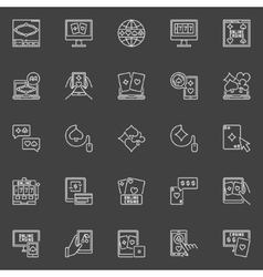 Online poker and casino icons vector