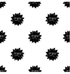 Orange virus icon in black style isolated on white vector