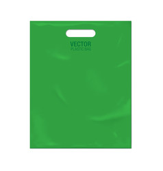 plastic bag template vector image vector image