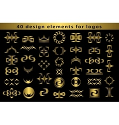 Set Creative icon monogram design elements with vector image