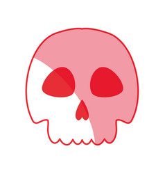 Silhouette skull danger and caution alert vector