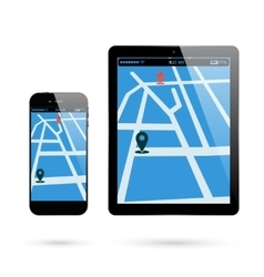 Smartphone tablet location vector