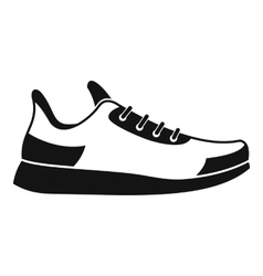 Sneaker icon simple style vector image vector image