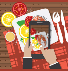 taking food fotos vector image vector image