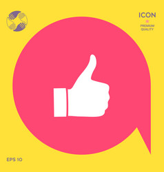 thumb up gesture - icon vector image vector image