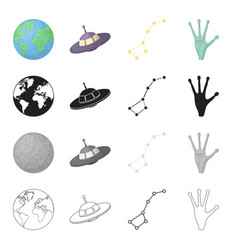 universe science research and other web icon in vector image