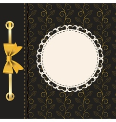 Vintage gold frame on floral background vector image vector image