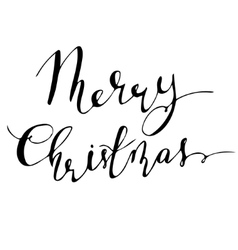 Merry christmas hand lettering signature vector
