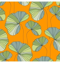 Waterlily seamless flower tropical pattern vector
