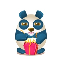 Cute Panda Activity With Humanized vector image