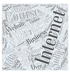 Best internet marketing course word cloud concept vector