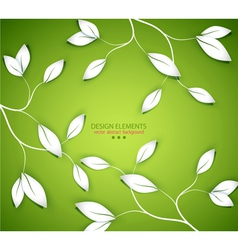 background with twigs and leaves vector image