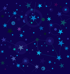 Starry night pattern swatch vector
