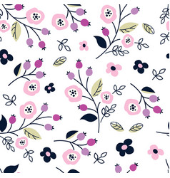 Floral seamless pattern with abstract flowers vector