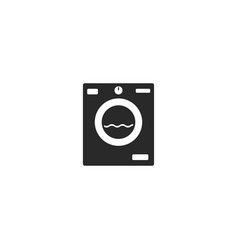 Washing machine icon flat cartoon washer vector