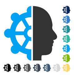 Intellect icon vector