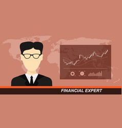 Stock market and financial expert vector