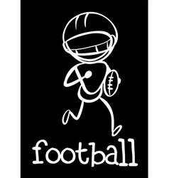 A football player vector image