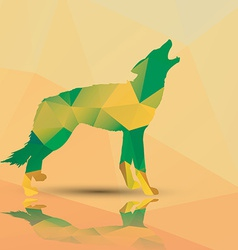 Geometric polygonal wolf pattern design vector