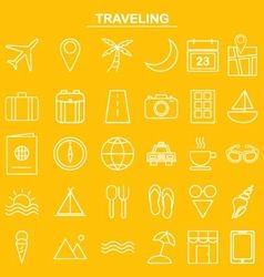 Linear traveling icon for website and app vector image