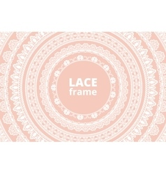 Lace net with heart pattern vector image