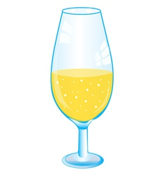 Goblet with drink vector