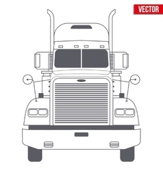 Truck symbol for delivery company vector