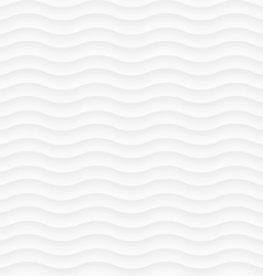 White seamless pattern of abstract waves vector