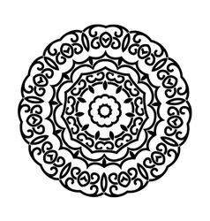 Circular ornament mandala design vector