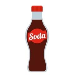 Soda bottle isolated icon design vector