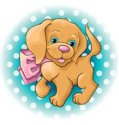 A cute dog spaniel vector