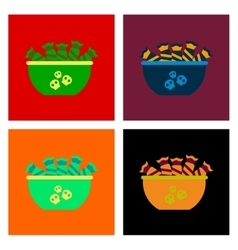 Assembly flat icons halloween candy vector