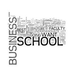 Best undergraduate business schools text word vector