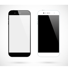 Black white smartphones vector image vector image