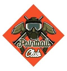 Color vintage paintball emblem vector image vector image