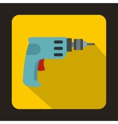 Cordless drill icon flat style vector