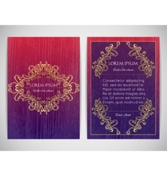 Cover design with ornamental frame retro style vector