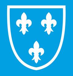 Crest icon white vector