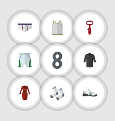 Flat clothes set of singlet uniform foot textile vector