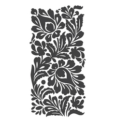 Floral folkloric element isolated vector