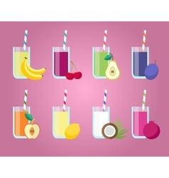 Fresh juices set vector image
