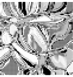 Halftone monochrome background vector image vector image
