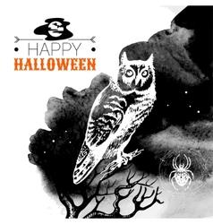 Halloween background typographic poster vector