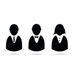 Icon of people silhouette vector