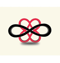 infinity Heart symbols vector image